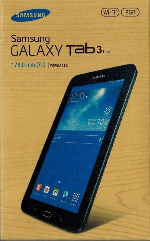 Samsung galaxy tab 3 lite sm t110 neuf ovp 7 0 wifi 8gb for Photo ecran galaxy tab 3