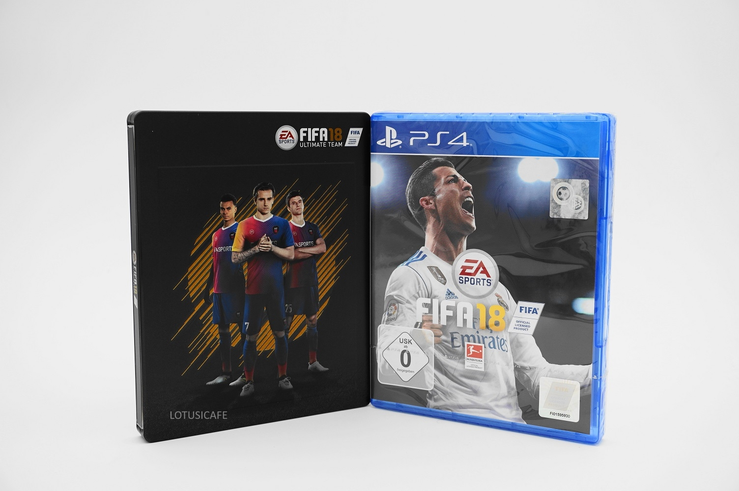 fifa 18 steelbook ps4 sony playstation 4 2018 neu. Black Bedroom Furniture Sets. Home Design Ideas