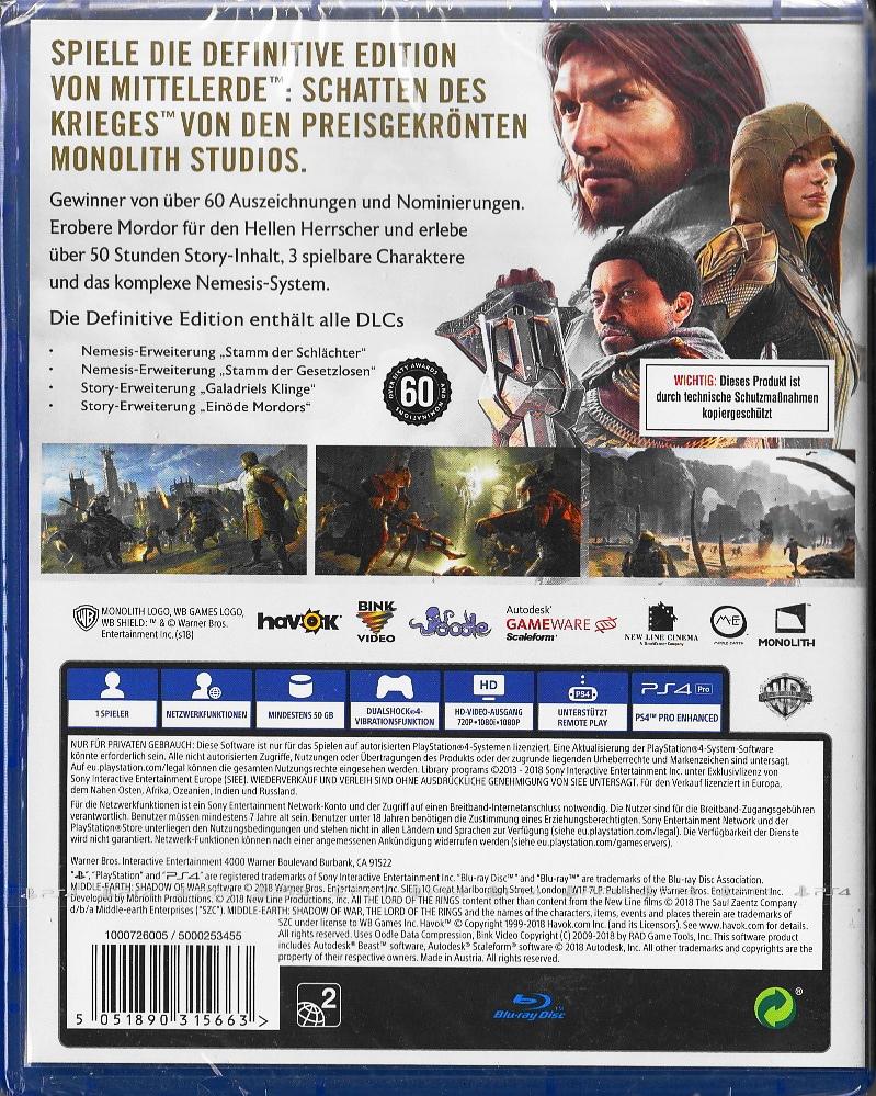Mittelerde: Schatten des Krieges Definitive Edition ...