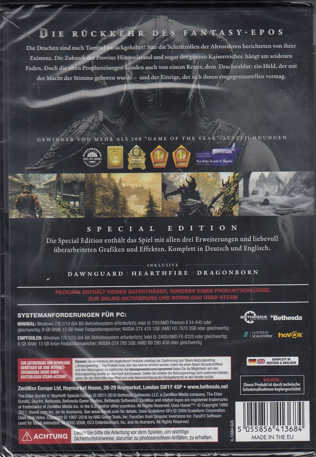 The Elder Scrolls V Skyrim Special Edition Pc Neu Ovp Ebay
